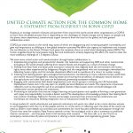 United Climate Action for the Common Home