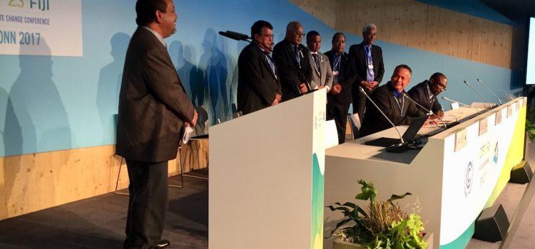 Suscripción al Fondo Verde del Clima para la resiliencia del Pacífico